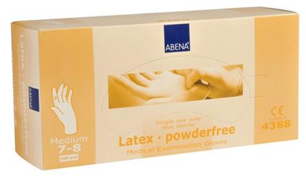 Handske latex puderfri M 100/ifp