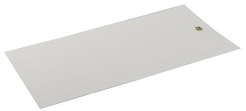 Merkelapp plast 220x105mm m/metallmalje