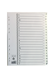 Plastregister A4 A-Ö vit