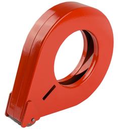 Tapedispenser D2 dråpeformet 50mm rød metall