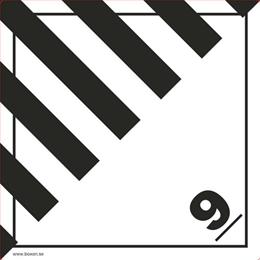 Etikett - ADR 9 övriga farliga ämnen