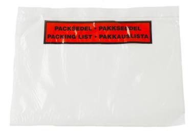 Pakkeseddelkuvert C5 med tryk