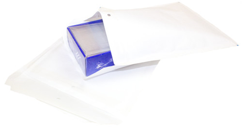Bubble Mailers G 225x340mm vit
