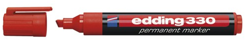Marker EDDING 330 skrå spids rød