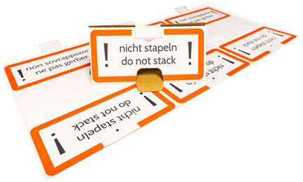 "Display ""nicht stapeln + do not stack"""
