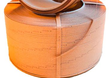 Pakkebånd av papir 12mmx2000m brun