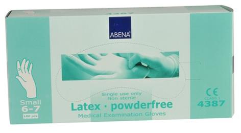 Handske latex puderfri S 100/ifp