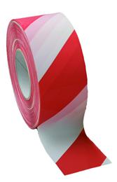 Varselsbånd rødt/hvitt