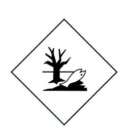 Etikett ADR 100x100mm miljøfarlige stoffer