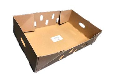 Kødkasse 570x365x150mm bund 20kg brun