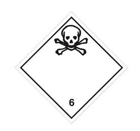 """Etikett """"ADR 6 giftiga ämnen"""""""