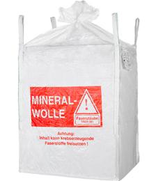 Big Bag Mineralwolle, Schürze, 90 x 90 x 120 cm