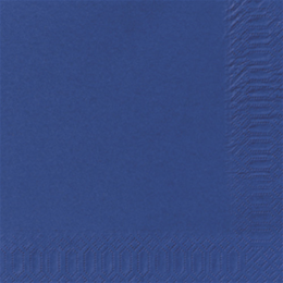 Serviet 3-lags 33x33cm mørkeblå