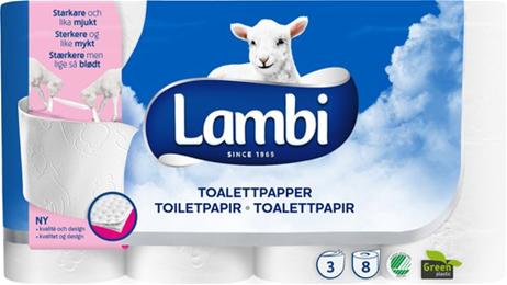 Toiletpapir Lambi 3-lag