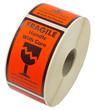 """Etikett """"Fragile"""" + symbol"""