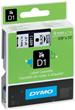 Tape DYMO D1 9mm svart på vit