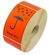 """Etikett """"Keep dry"""" + symbol"""