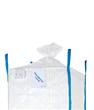Big Bag mit PE Liner, Schürze u. Auslaufstutzen, 90 x 90 x 115 cm