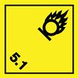"""Etikett """"Varning oxiderande ämne"""""""