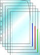 Plastficka Signal A4 0,13mm röd